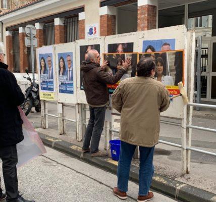 (17) Mercredi 22 janvier  Le Printemps Marseillais en campagne Place du 4 septembre et présent sur les murs dans le 7em
