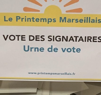 (14) Le vote des signataires du « Printemps Marseillais » a validé la candidature de Michèle Rubirola et de l'équipe de campagne