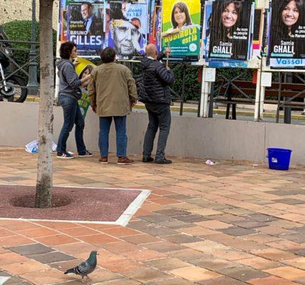 Affichage : Face aux mercenaires de certains candidats les militant-es du Printemps occupent l'espace public et panneaux électoraux !