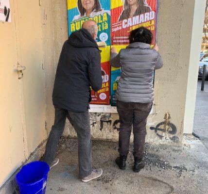 Acte IV de la campagne des élections municipale à Marseille : Les têtes de listes  du Printemps Marseillais  occupent les murs et les quartiers dans les 8 secteurs de la Ville.