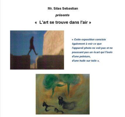 Galerie de l'Atelier des Arts : » L'art se trouve dans l'air» par Silas Sebastian – vernissage le 5 février 2020