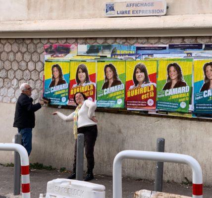 Éloge du militantisme au Printemps Marseillais : L'affichage reste un acte militant avec ses moments de détentes contre les mercenaires de la politique !