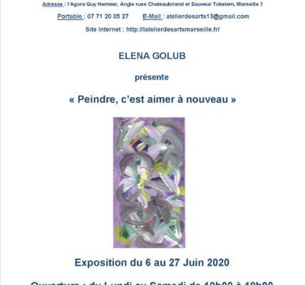 (2) L'Atelier des ARTS Hors de ses murs : Les associatifs répondent présent et participent au vernissage de l'exposition d'Elena GOLUB à l'Agora Guy Hermier