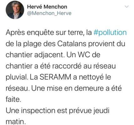 (1) Plage des Catalans : Promoteur – Pollueur / Le chantier sur le terrain Giraudon pris en flagrant délit de pollution marine