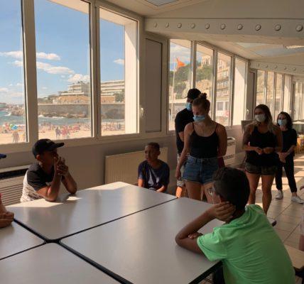 (11) Marseille mandature 2020/2026 : 1er Secteur – Maison de la Mer sur la Corniche – Rencontre avec les associations et les jeunes en stage –