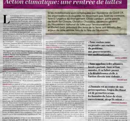 Action  climatique : une rentrée de luttes