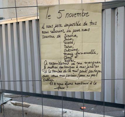 (22) Marseille mandature 2020/2026 : Hommage aux victimes du 5 novembre 2018 – Deux ans après l'émotion est grande – La mobilisation intacte –