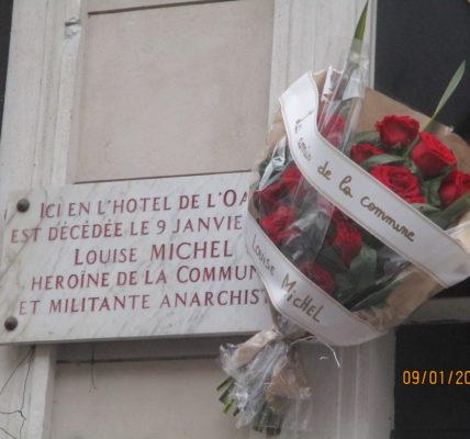 (1) – Hommage à Louise Michel – 9 janvier 2021 – Devant l'Hôtel Duc et square Louise Michel –