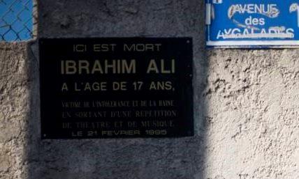 Le Printemps Marseillais inscrit au vote du conseil municipal du 8 février Une Avenue «Ibrahim Ali» : Inauguration le 21 février 2021  – Un long chemin pour la mémoire !