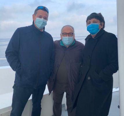 (39) Marseille mandature 2020/2026 : Archipel  du Frioul – Vaccination mardi 9 mars – Les marins pompiers et l'infirmier sur le pont – Sur le terrain les élus du 1er secteur mobilisés pour les habitants de l'ile !