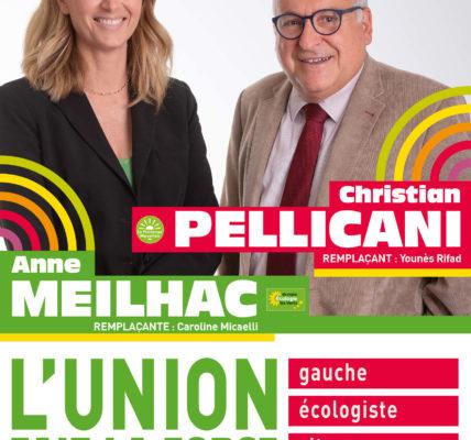 (4) Départementale 2021 les 20 et 27 juin 2021 : L'UNION – GAUCHE – ECOLOGISTE – CITOYENNE !  12e Canton un binôme «Le Social et l'écologie «