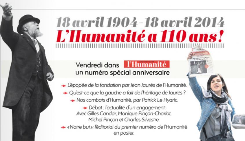 L'Huma, 110 ans plus tard … Quatre mois avant le centenaire de la mort du père du socialisme français, son journal, lancé en 1904, est toujours bien vivant.
