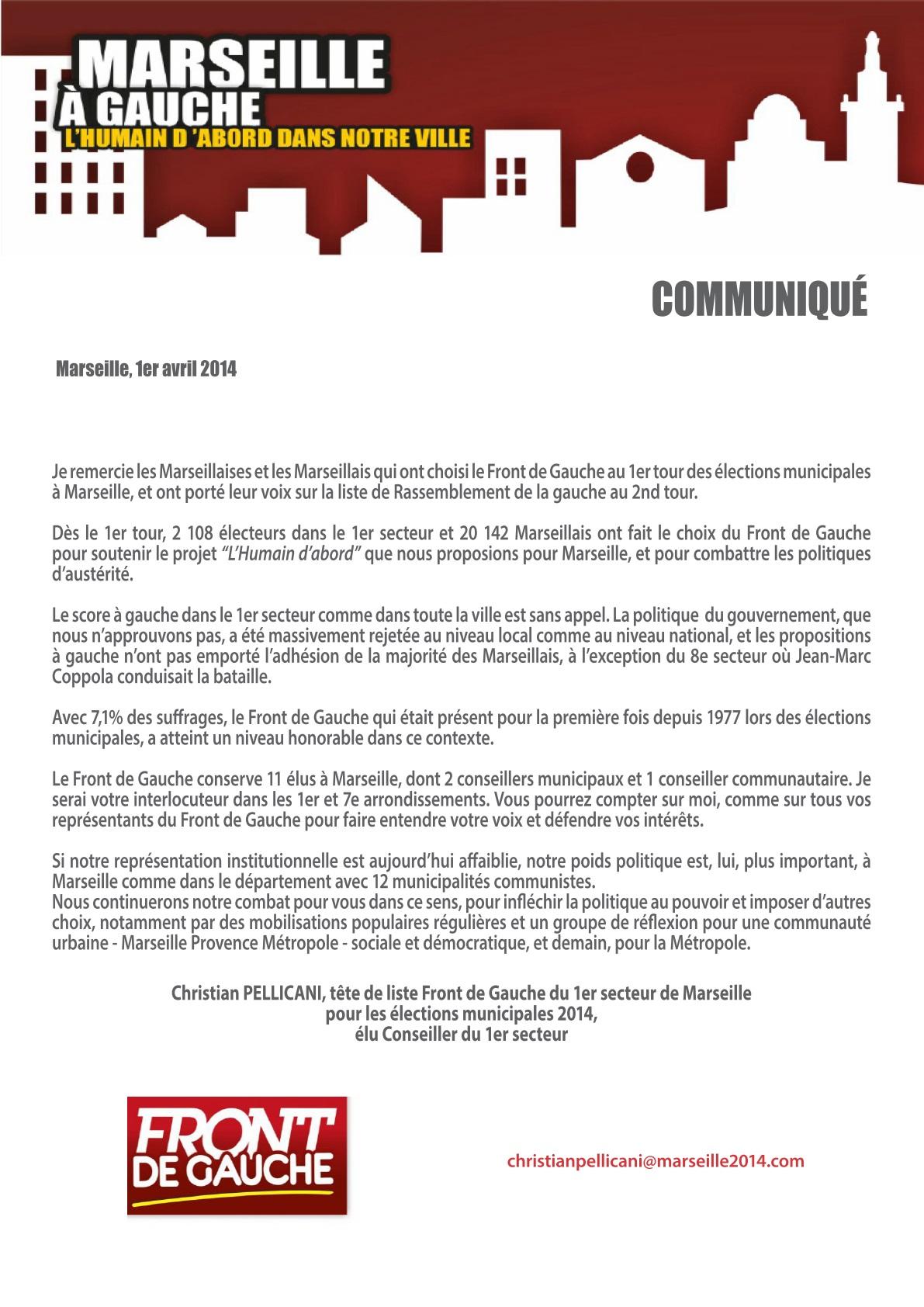 (37) Carnet de Campagne : Remerciements aux électeurs Front de Gauche !