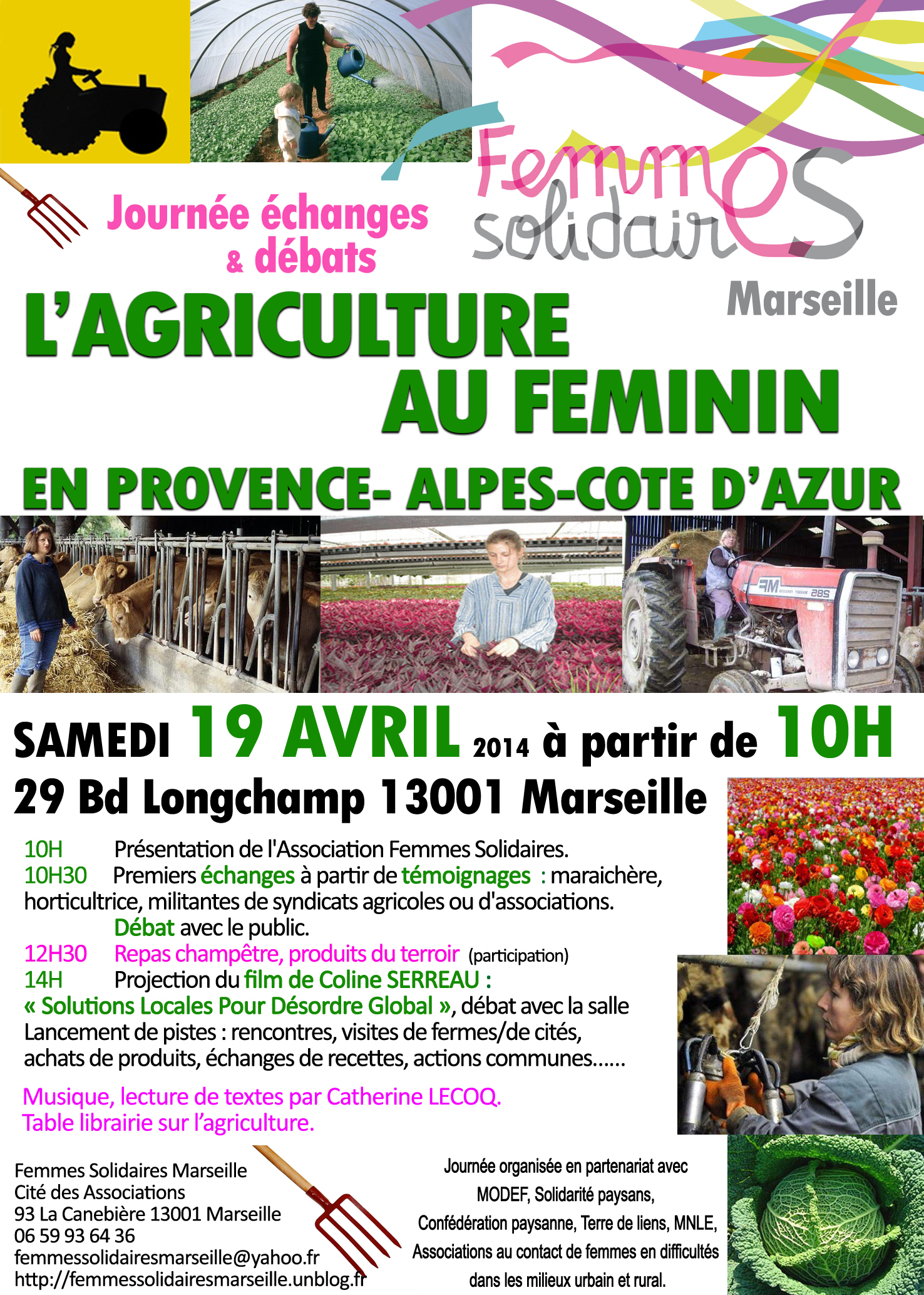 19 avril 2014 : L'Agriculture au Féminin sur la Canebière à Marseille !