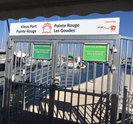 (1) Navettes Maritimes  : Il faut poursuivre les Services  toute l'année vers la Pointe Rouge et l'Estaque pour ne pas recréer un clivage Nord/Sud !