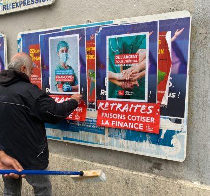 (1) Section PCF 7e : Affichage : pour les retraites, de l'argent pour la santé et les Hôpitaux – lancement d'une campagne nationale par Fabien Roussel secrétaire National du PCF
