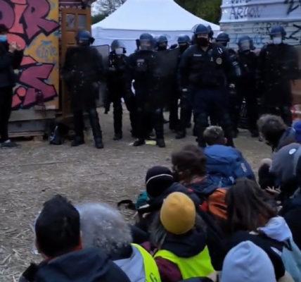 LES FORCES DE POLICE ONT EVACUE CE MATIN LA «ZAD» DE GONESSE  LE MNLE RESEAU HOMME&NATURE CONDAMNE CETTE ACTION VIOLENTE DES AUTORITES ET SOUTIENT LES MILITANTS DU CPTG