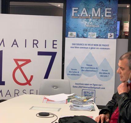 (8) FAME 2021 Marseille : Conférence de presse de lancement des ateliers – Les représentants du MNLE – EBC & EBC PACA – La Coordination Eau ile de France ouvrent les travaux !