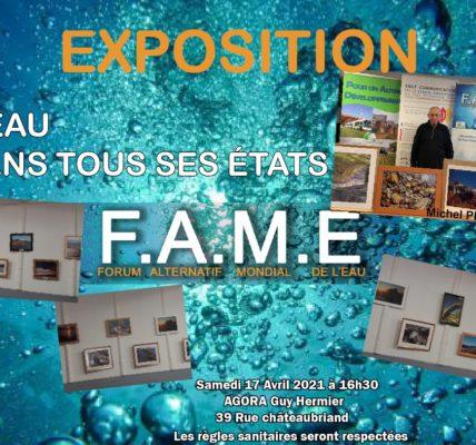(12) FAME 2021 Marseille : Vernissage en petit comité « L'eau dans tous ses états » par Michel PERRIN – Photographe –  crise sanitaire oblige !