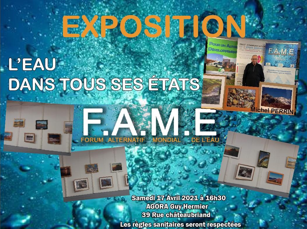 (11) FAME 2021 Marseille : «L'eau dans tous ses états» par Michel PERRIN – Photographe .  Le Forum poursuit son travail sur la dimension artistique de l'eau.