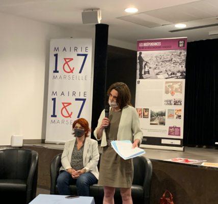 (48) #Marseille mandature 2020/2026 : Présentation du programme Culturel de juin en Mairie de secteur par Sophie CAMARD, Maire de Secteur et Agnès FRESCHEL, Adjointe à la Culture