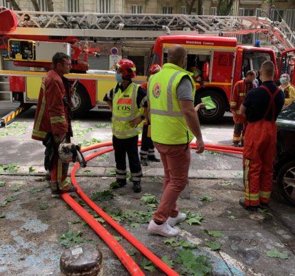 # Marseille7e Réactivité des secours et des forces de l'ordre au 31 de l'Av de la Corse ! Le Maire de Marseille et les élus du secteur 1er secteur se sont rendus sur place .