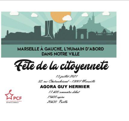 37e Fête de la Citoyenneté  à l'Agora Guy Hermier le 13 juillet 2021