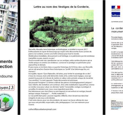 Manifestation le 22 septembre 2021 pour la sauvegarde et valorisation des vestiges  Antiques de la CORDERIE à 17h00