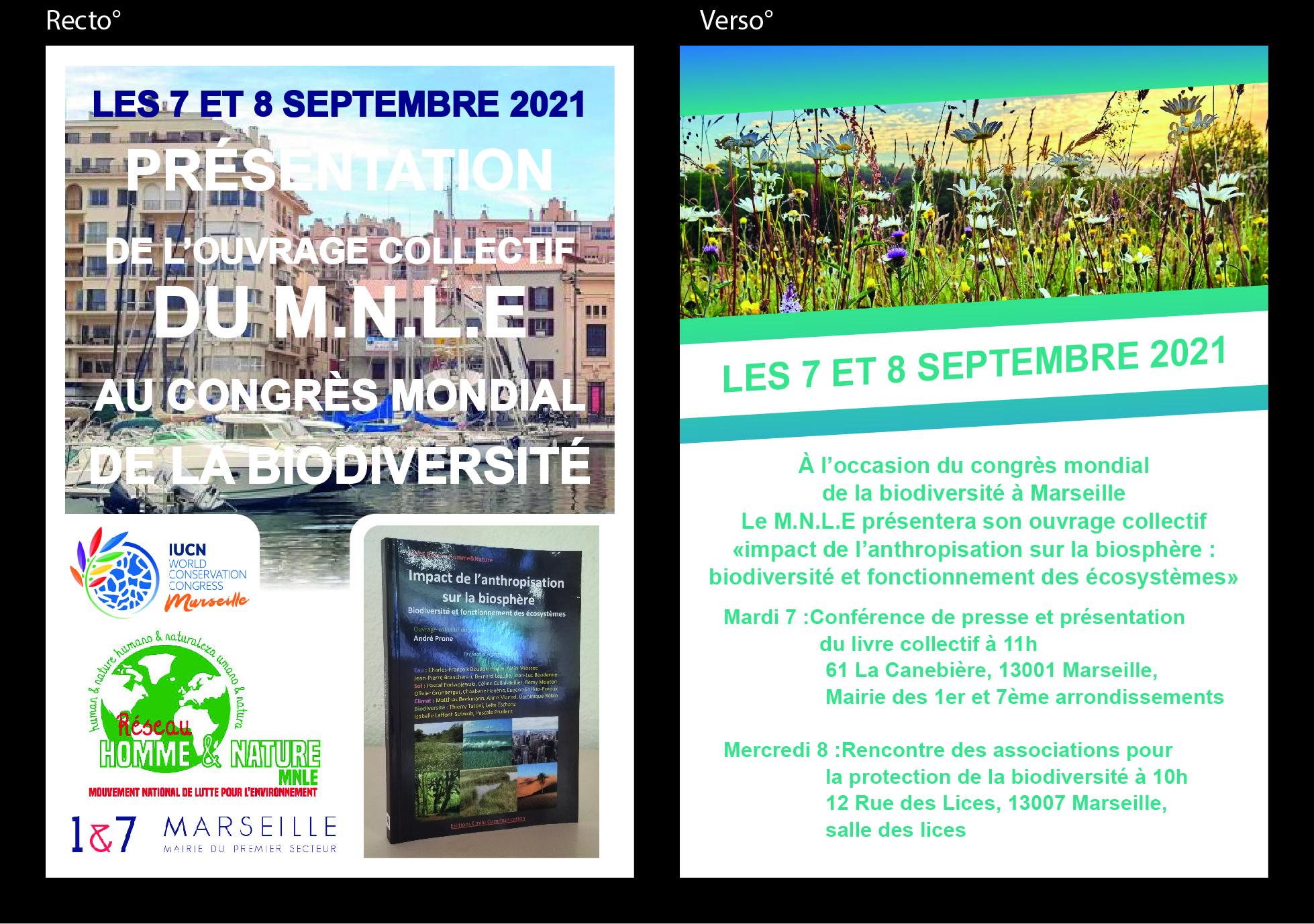 (2) #BiodiversitéCongrèsMondial : Présentation du livre collectif «Impact de l'anthropisation sur la biosphère» par le MNLE à La Mairie du Premier Secteur.